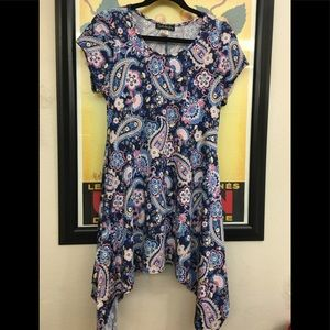 French Atmosphere Paisley Flowey Dress